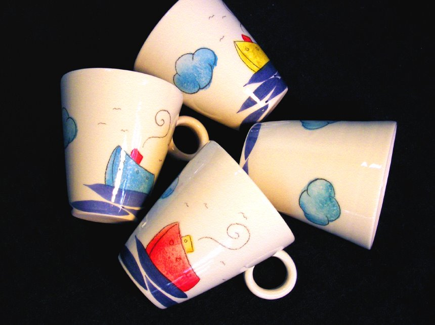 big ceramic mugs ship