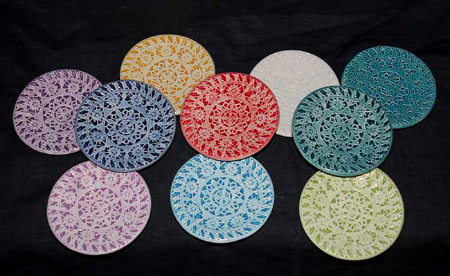 lace dishes round all