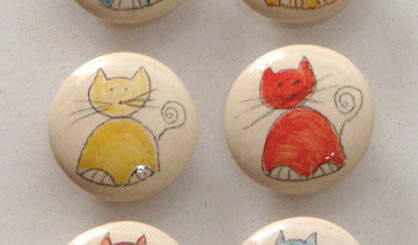 ceramic bottle stoppers cats