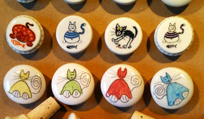 bottle stoppers cats