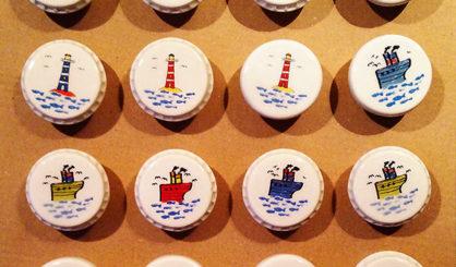 bottle stoppers ships lighthouses
