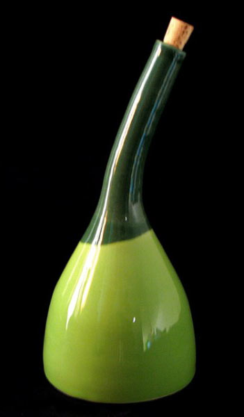 green bottle curved neck