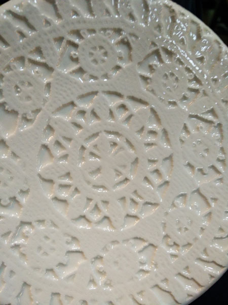 lace dish white