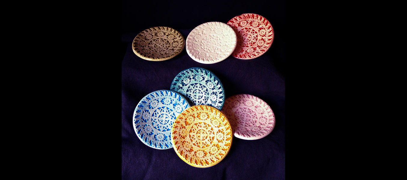 Lace Dishes - Round