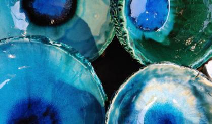 glazed bowls