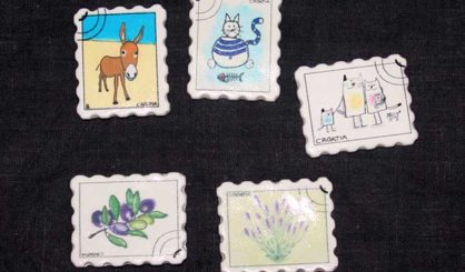 magnets stamp nature